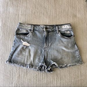NORDSTROM BP High Waisted Distressed Denim Shorts